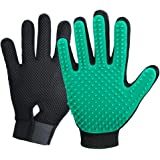 2020 New Version Pet Grooming Brush, Enhance Pet Grooming Glove with 255 Tips, Deshedding Glove for Dog and Cat, 1 Pair…