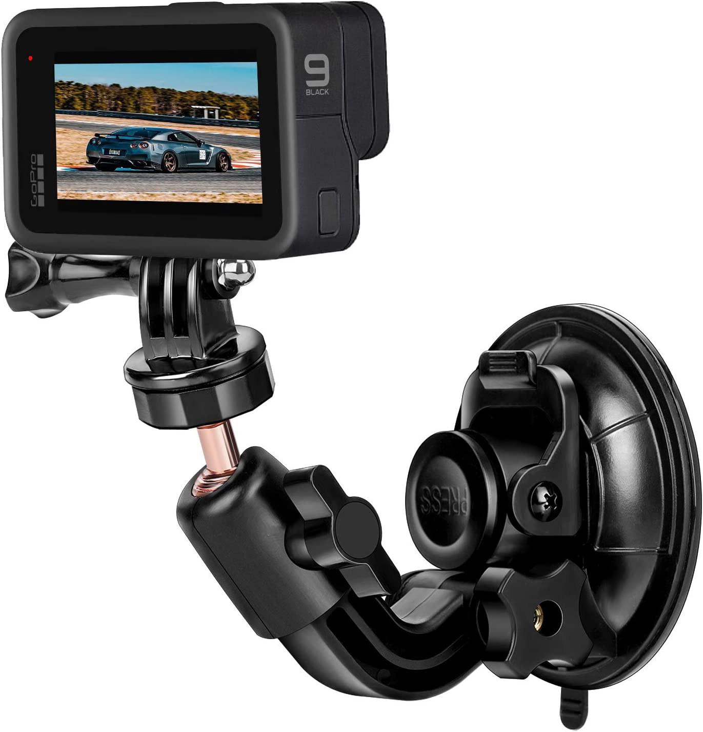 Mipremium Car Suction Cup Mount For Gopro Hero 9 8 7 6 5 4 3 3 2 Session Black Silver Xiaoyi 4k Sjcam Yi Sports Action Camera Dash Cam Holder Perfect For Boats Vehicle Windshield Window