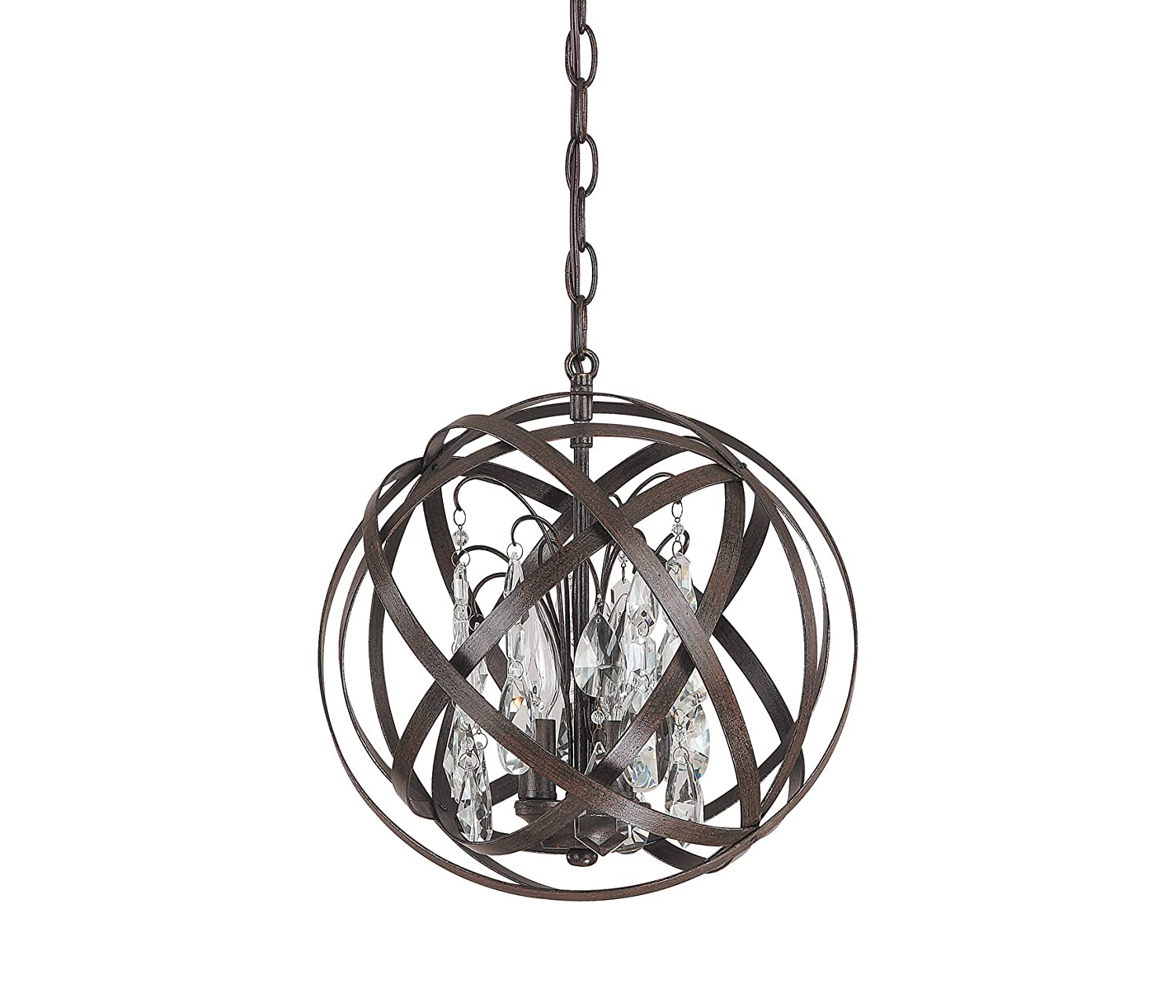 capital lighting 4233rs cr axis 3 light pendant russet finish with