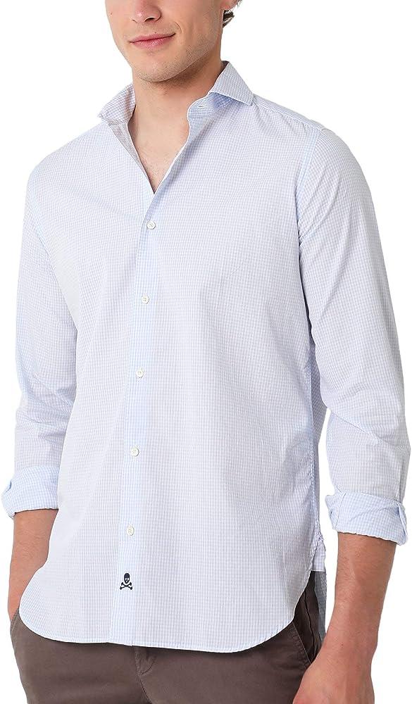 Scalpers Camisa Vestir Regular FIT - Skyblue Check / 39: Amazon.es: Ropa y accesorios