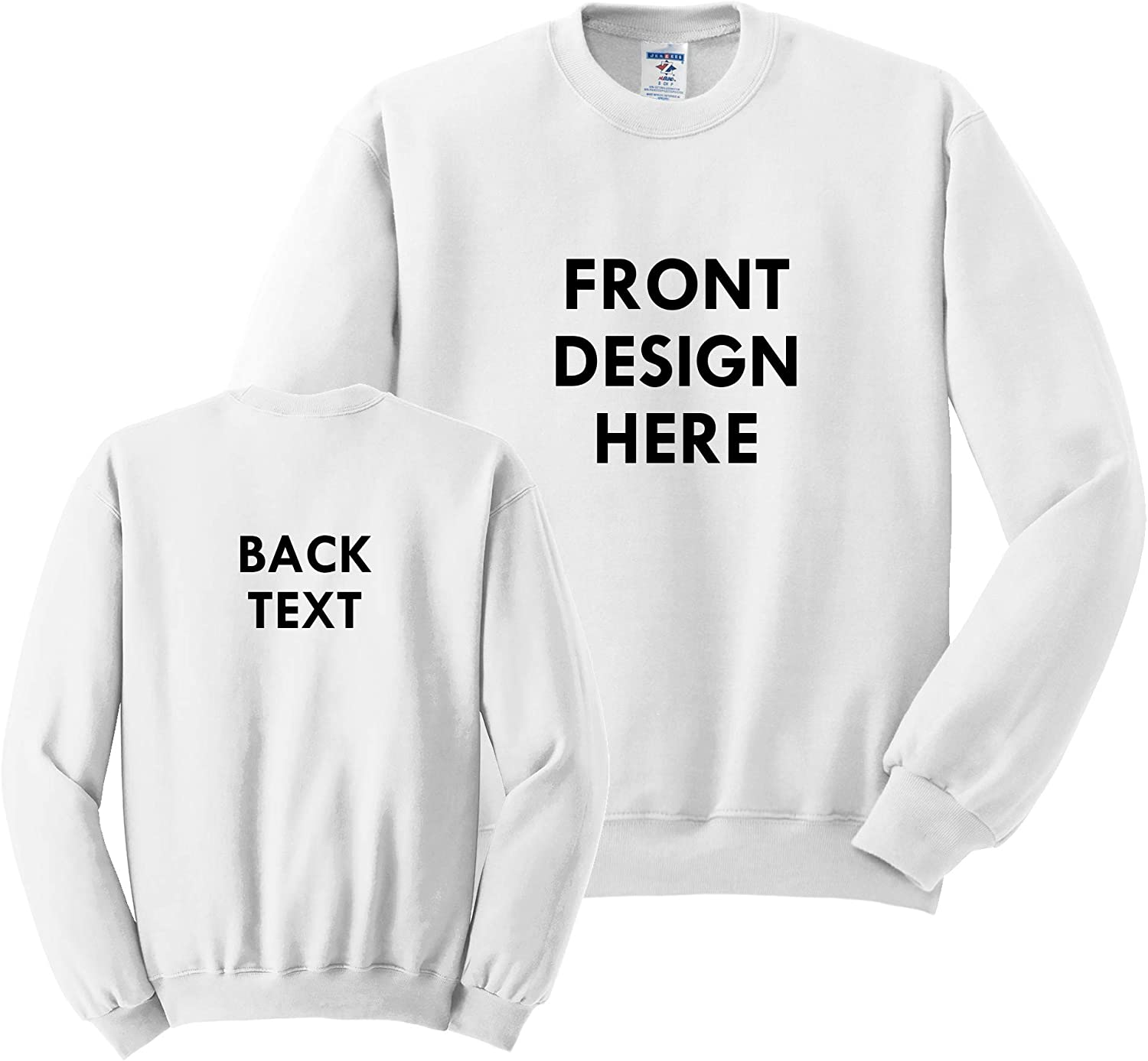 INK STITCH Unisex Jerzees Custom Design Your Own Warm Crewneck Sweatshirt 17 Colors