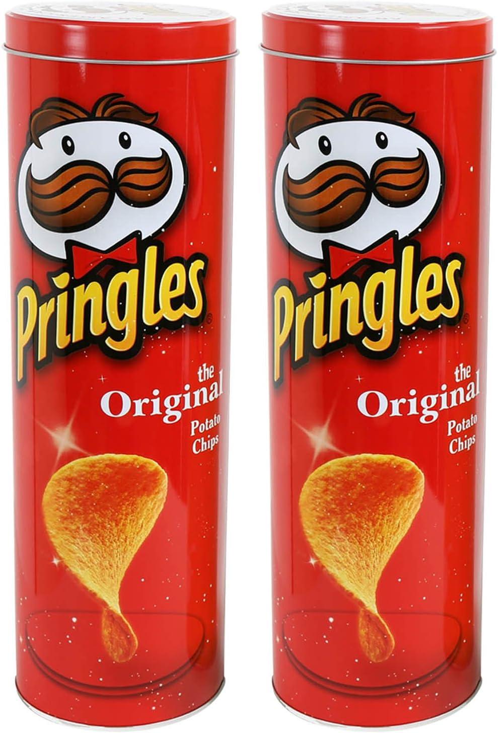 Pack de 2 Pringles rojo cilindro de cocina lata para almacenaje de ...