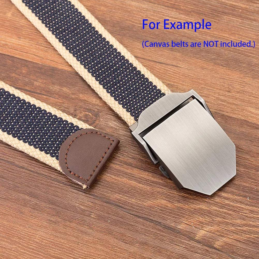 Womens Mens Alloy Steel Military Waistband Belt Buckle Solid Color Vintage