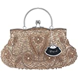 Bagood Women's Vintage Style Beaded Sequined Evening Bag Wedding Party Handbag Clutch Purs