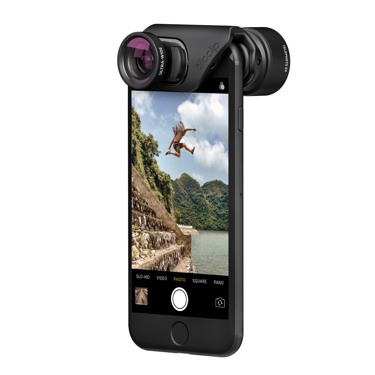 olloclip - ACTIVE LENS SET for iPhone 8/8 Plus & iPhone 7/7 Plus - TELEPHOTO & ULTRA-WIDE Premium Glass Lenses