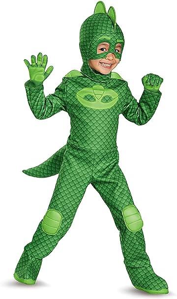 Disfraz de Gekko (PJ Masks) Amscan, 9902958, verde, 7-8 años