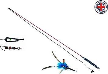 PurrSuit Katzenangel mit Feder lang - 99 cm (ehem. Flying Frenzy):  Amazon.de: Haustier