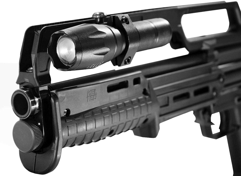 Trinity 1000 lumen flashlight for kel tec ks7 pump optics picatinny weaver 12ga pump home defense tactical optics accessory single rail.