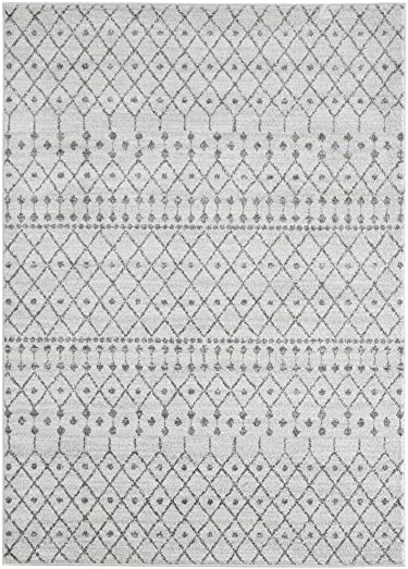 Luxe Weavers Pancras Moroccan Grey Off White Abstract 8×10 Area Rug