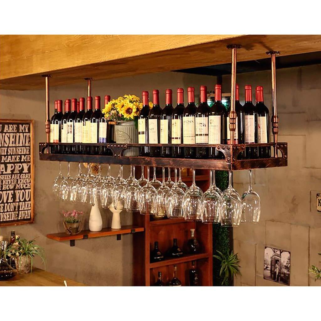 ワイングラスラックワイングラスホルダーゴブレットホルダーワインラック工業用ウィンドサスペンション、ブラウン (サイズ さいず : 120*35cm) B07LC8SJ3M  120*35cm