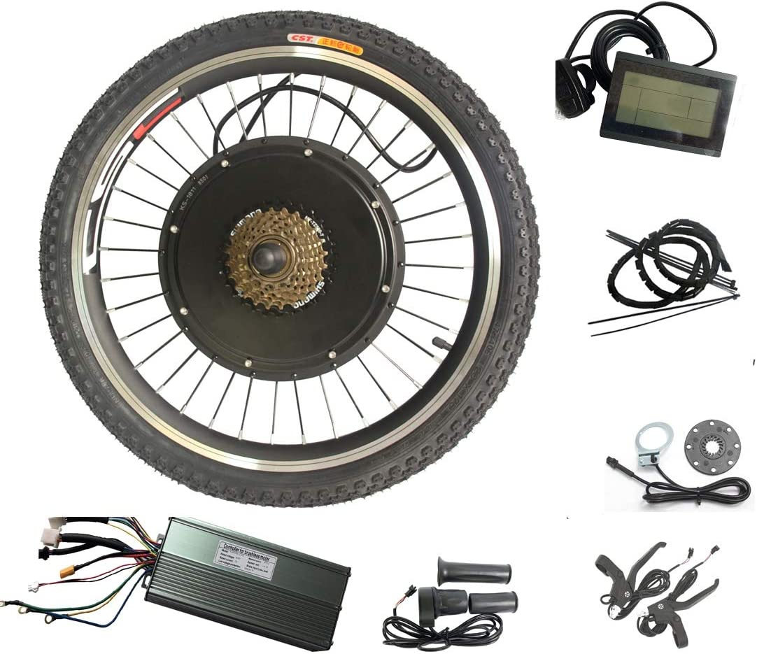 WENHU 29 Pulgadas Kit de conversión de Bicicleta 1500W-eléctrico Kit de conversión de Motor de Rueda Trasera Ebike: Amazon.es: Deportes y aire libre