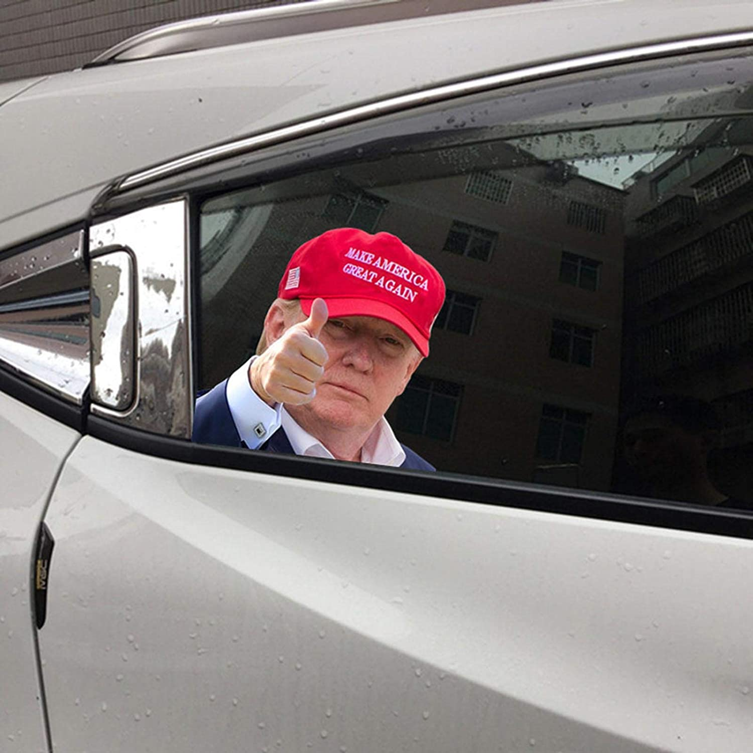 Amazon Com Trump Car Window Stickers Donald Trump Car Sticker Waterproof Pvc Auto Window Decal Easy Removal Leaves No Residue Reflective Funny Stickers Vehicles Accessories 12x10inch Trump A Right Kitchen Dining [ 1500 x 1500 Pixel ]