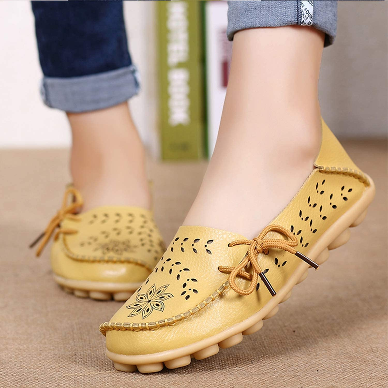 Be fearless Women PU Leather Flat Shoes Ladies Fashion Rivet Slip On Pointed Toe Crystal Rivet Casual Single Shoes