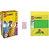 LEGO Classic Creative Building Brick Box Set 10704 with LEGO Classic Green or Sand Supplement Baseplate