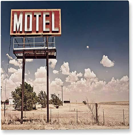 Amazon Com Pummelouty Old Motel Sign Farmhouse Bathroom Decor Wall Art Decor For Living Room 8x8 Posters Prints
