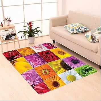 Amazon Com Nalahome Custom Carpet Nthemum Rose Sunflower Violet