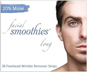 Facial Smoothies LONG Forehead Anti Wrinkle Strips, 36 Extra Long Wrinkle Patches