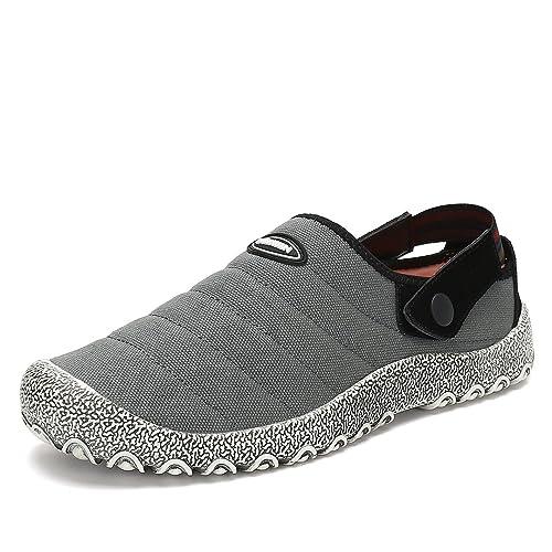 Maniamixx Zapatos de Jardinería Casuales Slip-On Zapatillas de Ocio Lona Pantuflas Unisex de Tela
