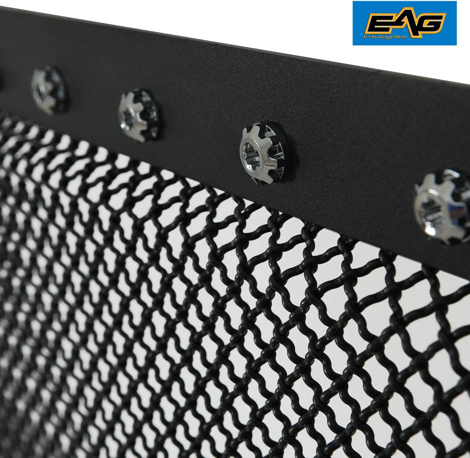 EAG Rivet Stainless Steel Wire Mesh Front Grille Fit for 03-06 GMC Sierra 1500