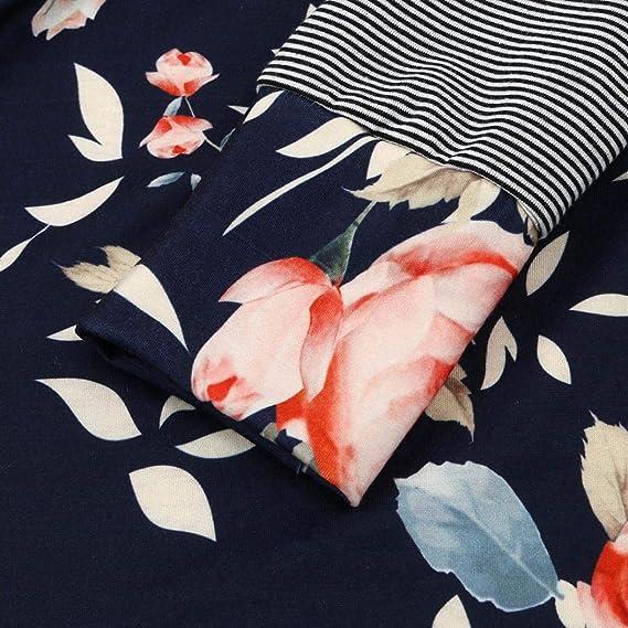 ... De Moda De Rayas Florales De Las Mujeres Mejor Vender Blusa Suelta Populares Tops Nueva Sudadera con Capucha De OtoñO: Amazon.es: Ropa y accesorios