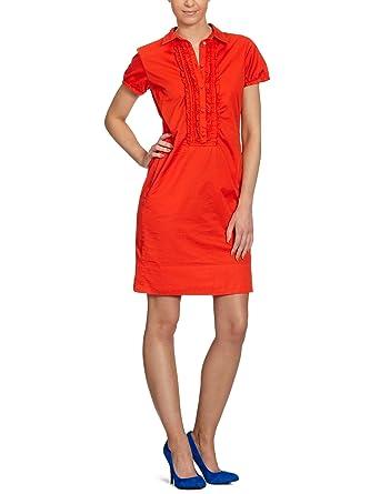 Kleid knielang orange