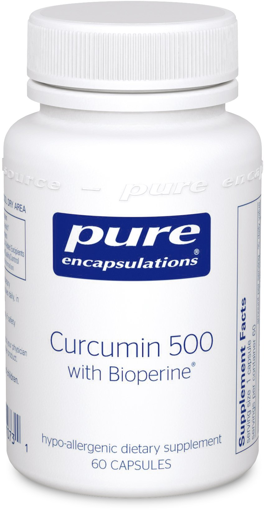 Pure Encapsulations - Curcumin 500 with Bioperine - Antioxidants for the Maintenance of Good Health - 60 Capsules