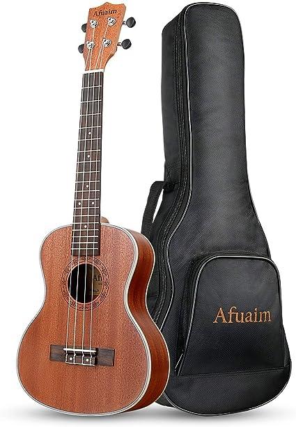 anyilon Lightweight 21 Inch Soprano Ukulele Uke Hawaii Guitar Sapele 4 Strings Wood Ukulele Musical Instruments