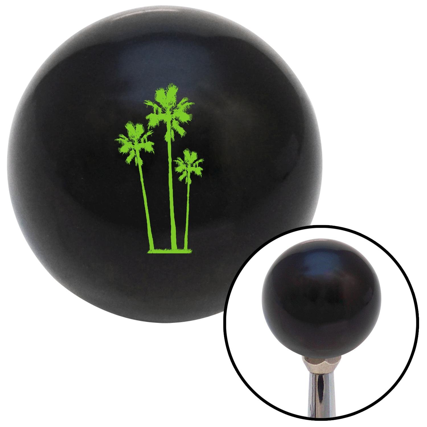 American Shifter 104881 Black Shift Knob with M16 x 1.5 Insert Green Group of Palms