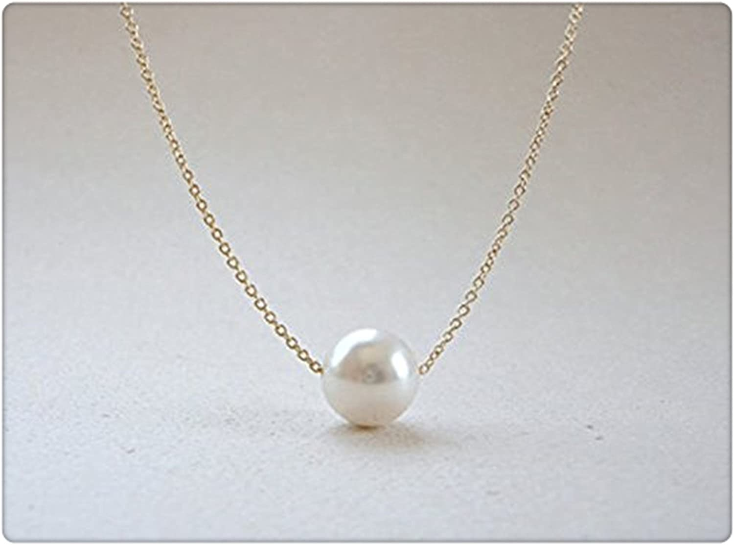 Floating pearl necklace,bridesmaid gift,silver chain necklace,wedding jewelry,3 pearl necklace,bridesmaid necklace,christmas gift for her,
