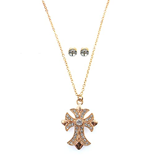 Amazon.com: Macy s Holiday Lane Gold-tone Cruz de vidrio ...