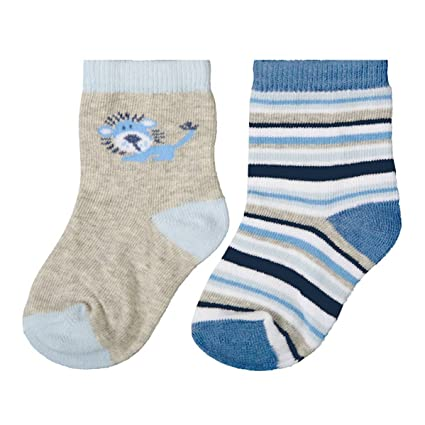 Carlomagno - Pack 2 pares calcetines bebe B301 - Talla 2 - Color Azul