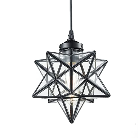 Yobo Lighting Clear Glass Moravian Star Pendant Lights Chandelier 8