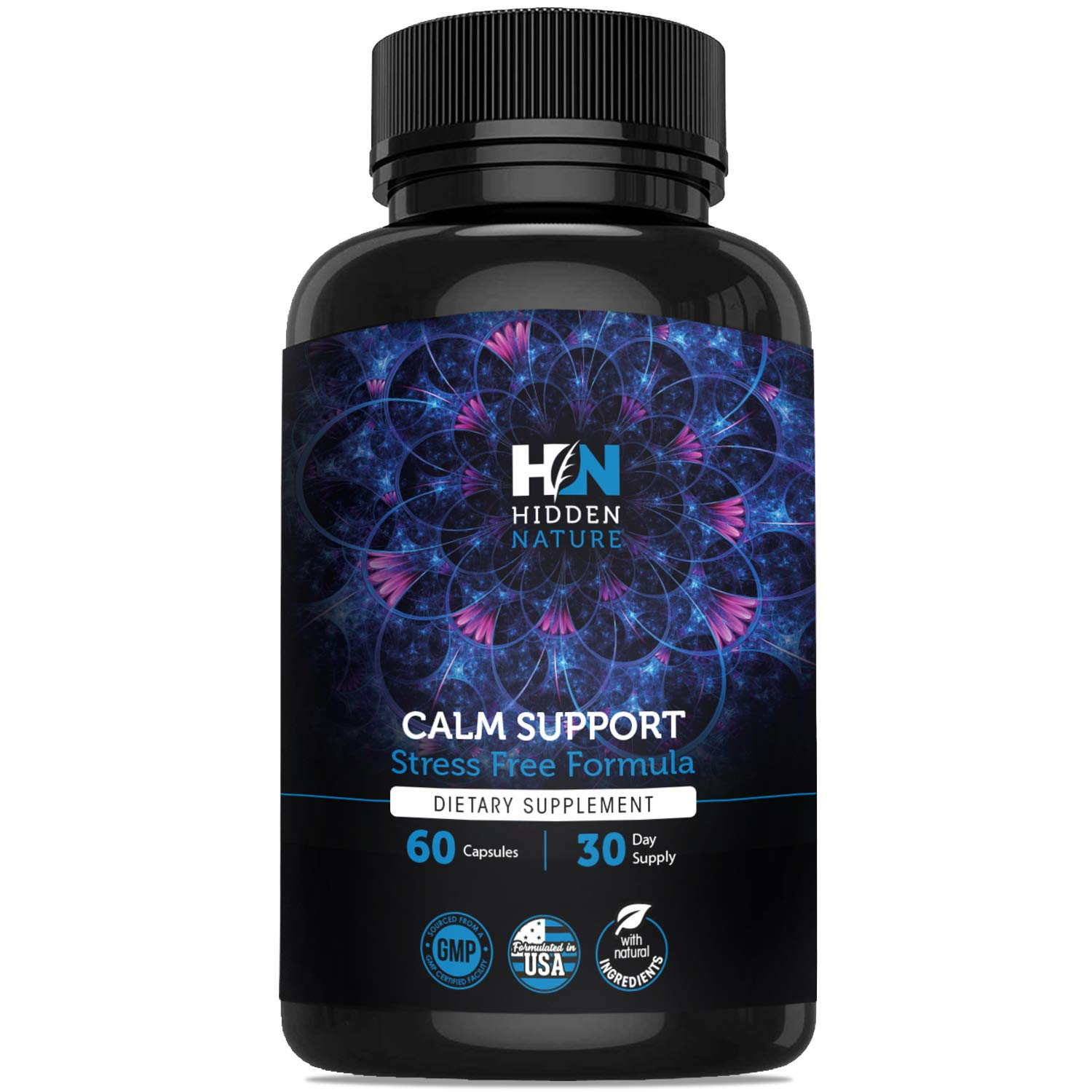 Anxiety Relief Supplements ǀ Best Stress Relief for Relaxation & Depression ǀ Mood Boost, Anti Anxiety, Anti-Depressant, Serotonin & Dopamine Enhancer with Ashwagandha, 5HTP, St. John's Wort & GABA