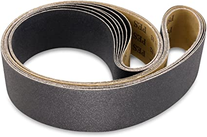 6 Pack 2 1//2 X 16 Inch 320 Grit Silicon Carbide Sanding Belts