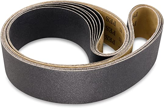 2 X 72 INCH SILICON CARBIDE EXTRA FINE GRIT SANDING BELTS-600 1000 Grits, 800