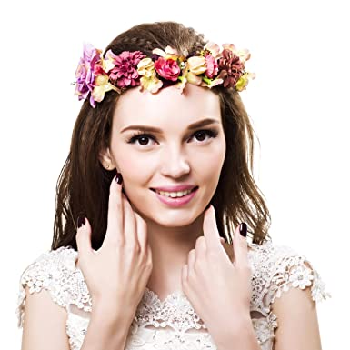 Rose peony flower crown wedding hair wreath bridal headpiece pink rose peony flower crown wedding hair wreath bridal headpiece pink white flower crown boho flower headband mightylinksfo