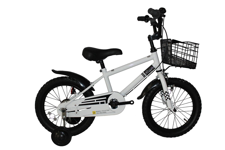 Raysusレイサス 自転車 16インチ RY-16NKN-H 子供自転車 キッズバイク 90%完成車 B01K4I3FM2 ホワイト ホワイト