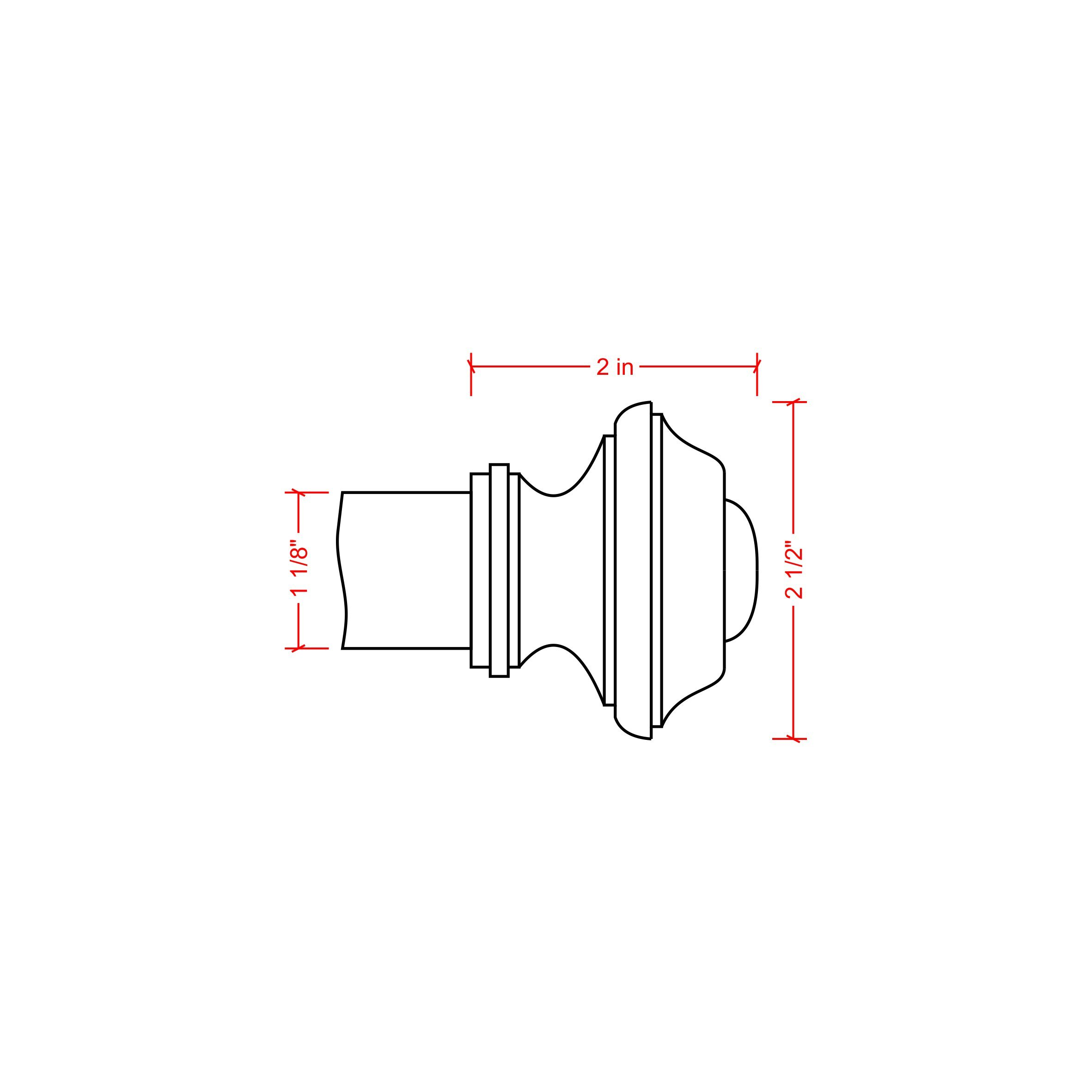 Ivilon Drapery Treatment Window Curtain Rod - Square Design 1 1/8 Rod. 28 to 48 Inch. Satin Nickel by Ivilon (Image #4)