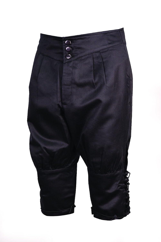 Museum Replicas Renaissance Black Dueling Pants Cotton Knee Britches