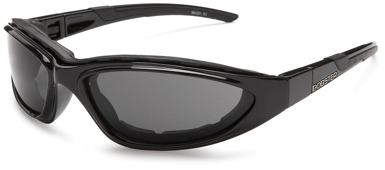 Bobster Blackjack 2 Round Prescription Ready Sunglasses, Black Frame/Smoked, Clear, Amber Lens BBJ201