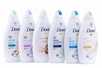 Amazon Com Dove Body Wash Variety 6 Pack Shea Butter Deep Moisture Pistachio Cream Coconut Milk Gentle Exfoliating And Silk Glow 16 9oz Each International Version Beauty
