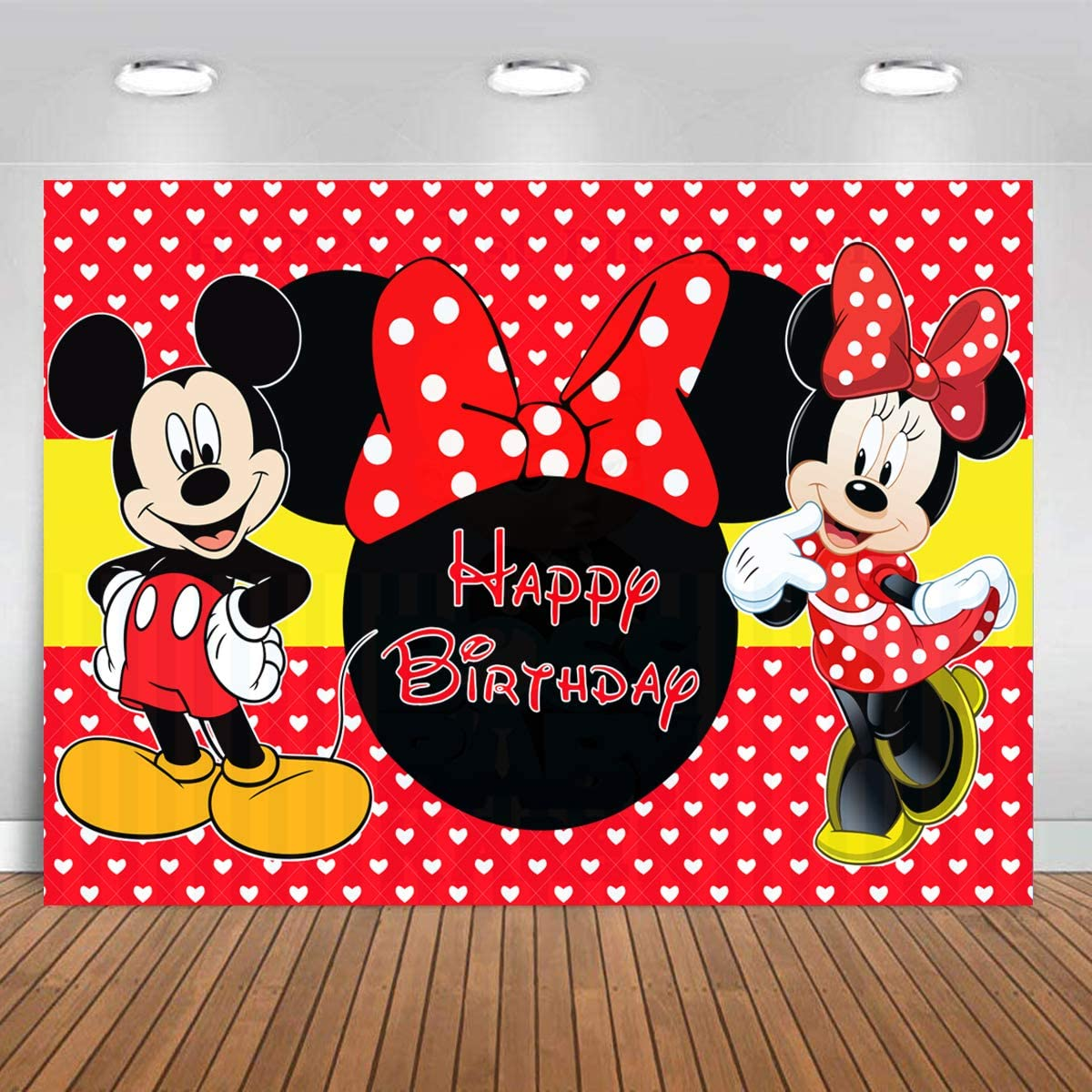 Birthday Mickey You Pick Minnie Mouse Polka Dot Flag Party Decoration 12 ft
