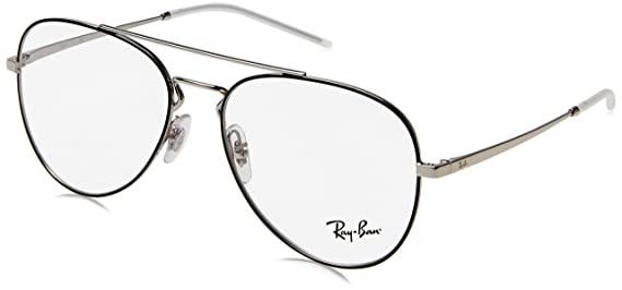 amazon eyeglasses ray ban optical rx 6413 2983 silver top black Round Glasses Ray-Ban Frames amazon eyeglasses ray ban optical rx 6413 2983 silver top black clothing