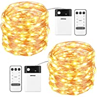 2-Pack Mpow 33-Foot 100-LED Battery-Operated String Light