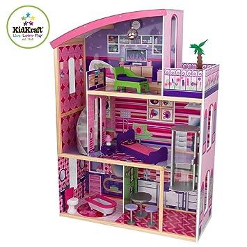 Amazoncom Kidkraft Wooden Modern Dream Glitter Dollhouse fits