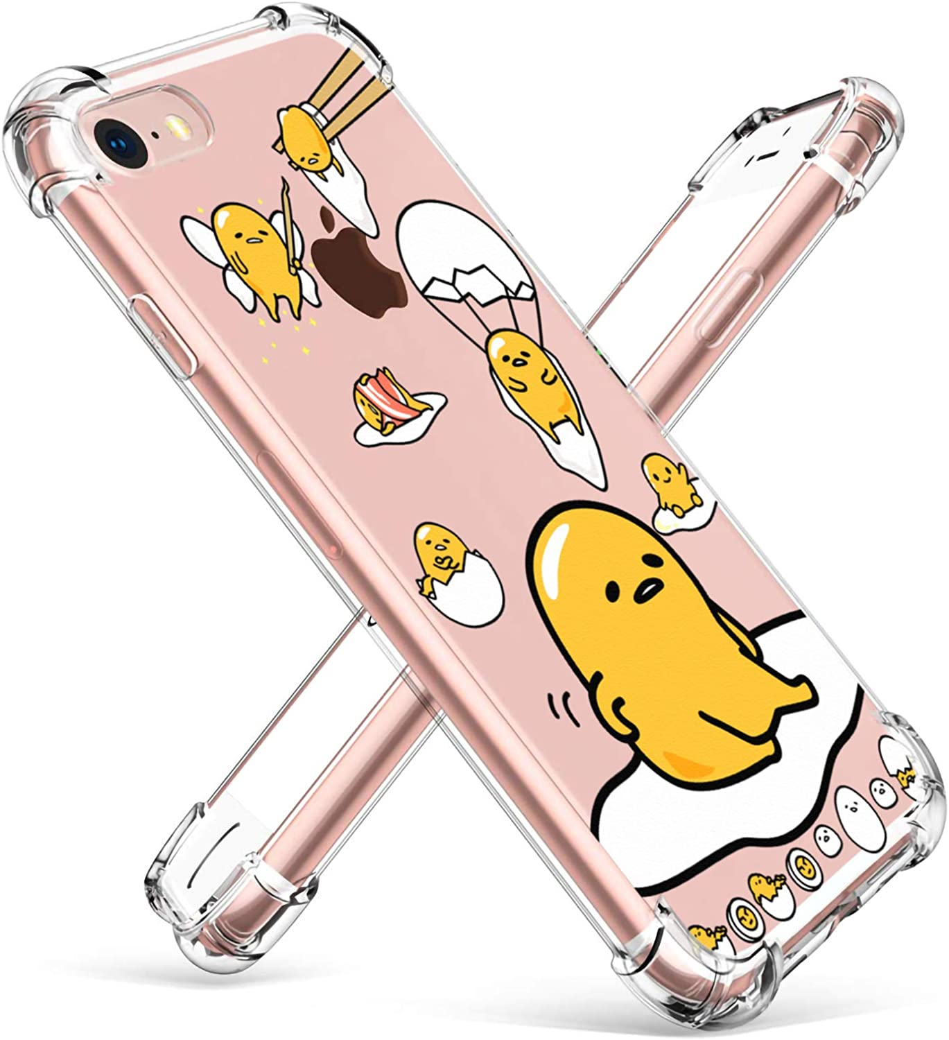 """Coralogo for iPhone 6 / 6S TPU Case, 3D Cute Cartoon Funny Design Character Protective Unique Chic Kawaii Fashion Fun Cool Stylish Cover Skin Teens Kids Girls Cases for iPhone 6 / 6S 4.7"""" (Lazy Egg"""