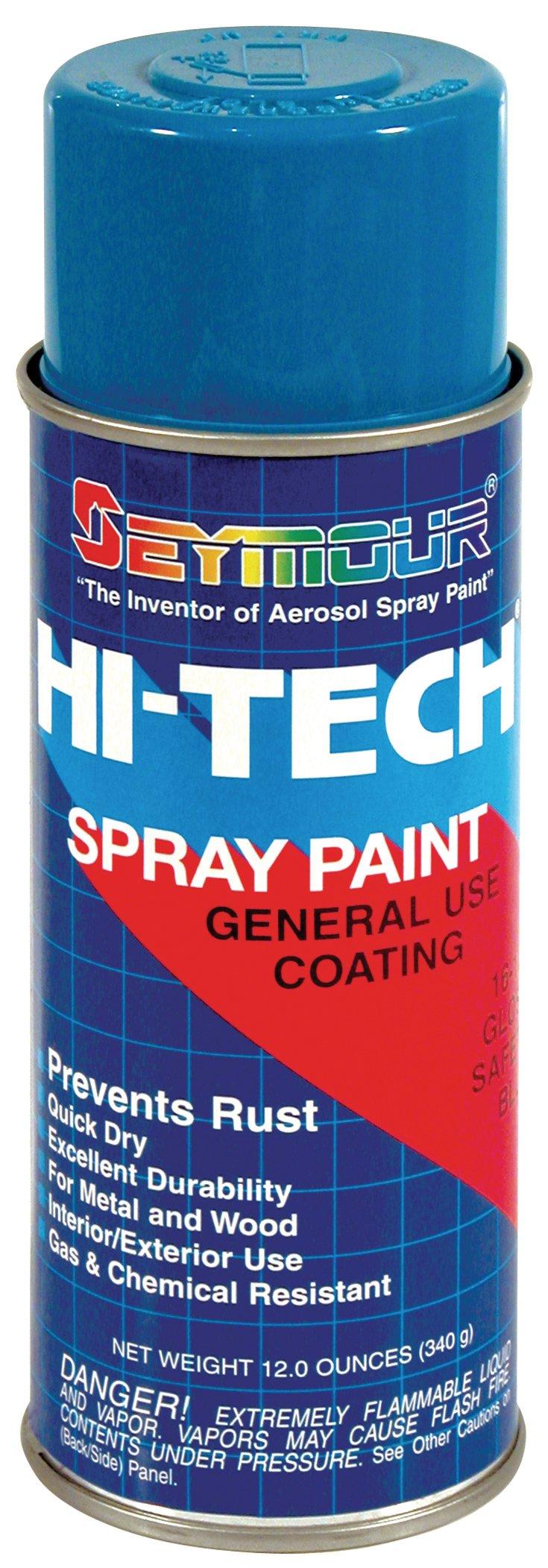 Seymour 16-129 Hi-Tech Enamels Spray Paint, Gloss Safety Blue