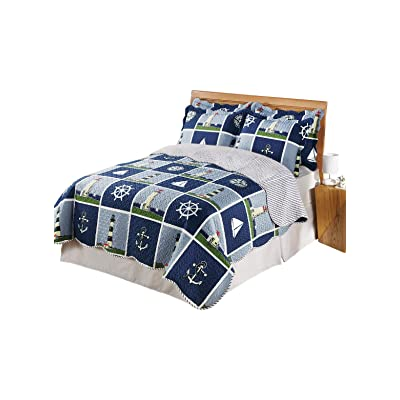 Carol Wright Gifts Lighthouse Quilt Set - King, Size King, Size King: Home & Kitchen
