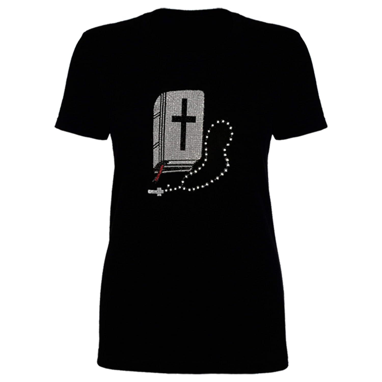 Bulltees /& Shiny Bible HotFix Rhinestones Womens Shirt Tee Dress Tank Top Leggings