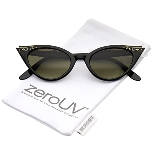 Amazon.com: zeroUV - 50s Vintage Cat Eye Sunglasses for Womens with ...